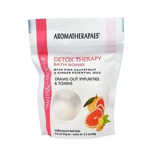 Detox Grapefruit essential oil bath bombs gift new